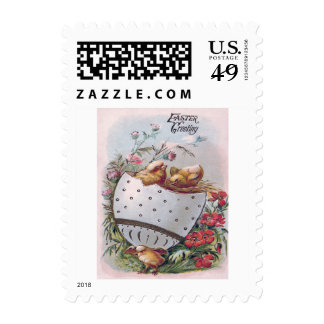 Easter Chick Egg Flowers Postage