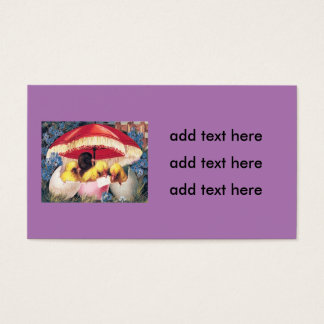 Easter Chick Egg Forget-Me-Not Business Card