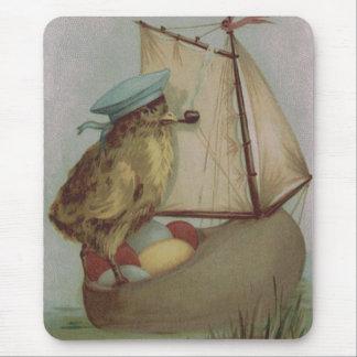 Easter Chick Egg Sail Ship Shoe Mouse Pad