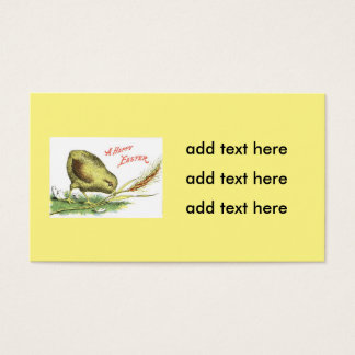 Easter Chick Egg Wheat Business Card