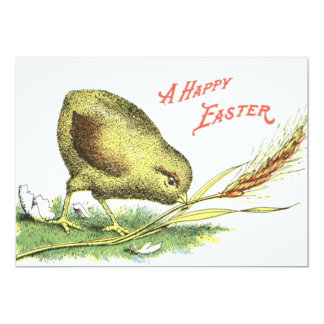 Easter Chick Egg Wheat Card