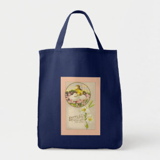 Easter - Chick & Eggs Up a Tree - Antique Postcard Tote Bag