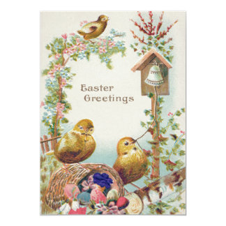 Easter Chick Forget-Me-Not Bell Card