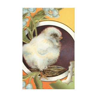 Easter Chick Forget Me Not Colored Egg Canvas Print