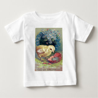Easter Chick Forget-Me-Not Egg Baby T-Shirt