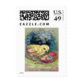 Easter Chick Forget-Me-Not Egg Postage
