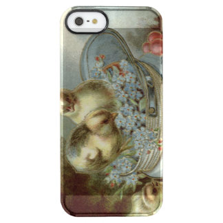 Easter Chick Forget-Me-Nots Cap Clear iPhone SE/5/5s Case