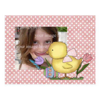 Easter Chick Frame - Customzied Postcard