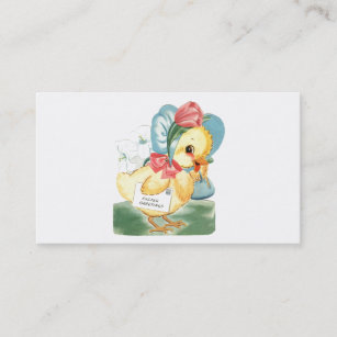 Easter egg hunt business cards templates zazzle easter chick greetings business card m4hsunfo