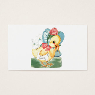 Easter Chick Greetings Business Card