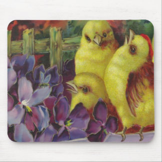 Easter Chick Greetings Mouse Pad