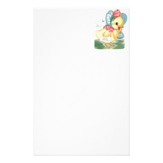 Easter Chick Greetings Stationery