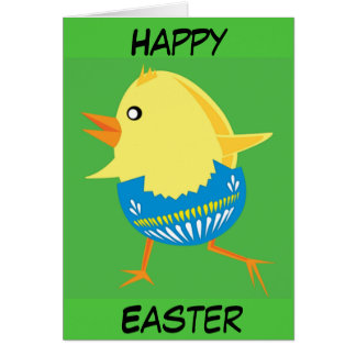 Easter Chick Hatching and Walking Card