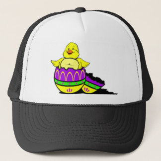 Easter Chick Hatching From Egg Trucker Hat