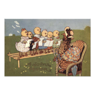 Easter Chick Hen Choir Photographic Print