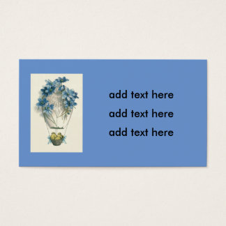 Easter Chick Hot Air Balloon Egg Business Card