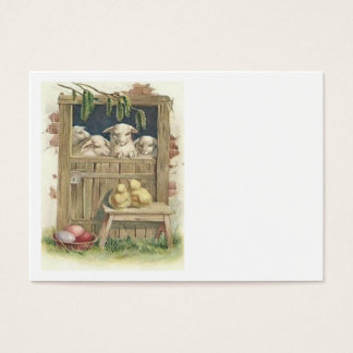 Easter Chick Lamb Barn Colored Painted Egg Business Card