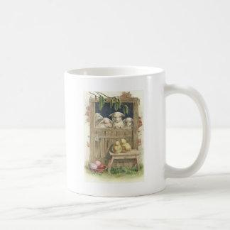Easter Chick Lamb Barn Colored Painted Egg Coffee Mug