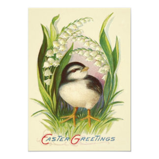 Easter Chick Lily Of The Valley Card