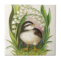 Easter Chick Lily Of The Valley Ceramic Tile