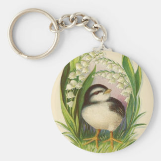 Easter Chick Lily Of The Valley Keychain