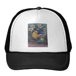 Easter Chick Painted Colored Egg Lily Trucker Hat