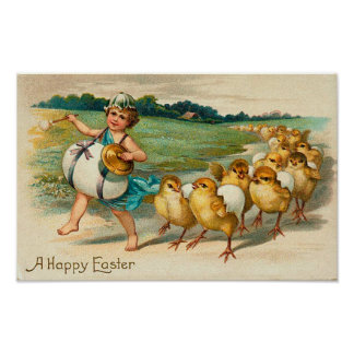 Easter Chick Parade Vintage Posters