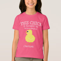 Easter Chick Personalized Allergy Alert T-Shirt