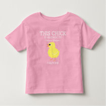 Easter Chick Personalized Allergy Alert Toddler T-shirt