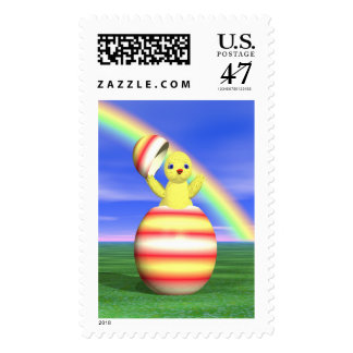 Easter Chick Pop-up Postage