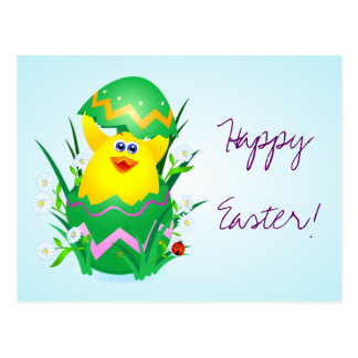 Easter chick, postcard