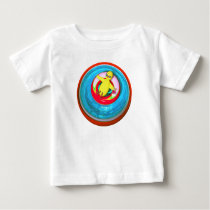 Easter Chick Relaxing in Swimming Pool Baby T-Shirt
