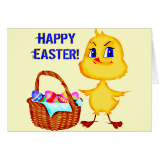 Easter Chick T shirts and Gifts Greeting Card