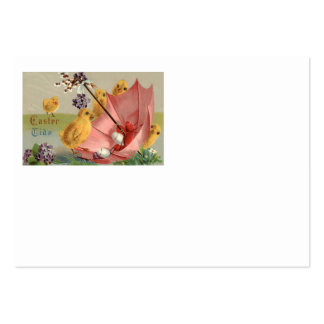 Easter Chick Umbrella Forget Me Not Egg Large Business Cards (Pack Of 100)