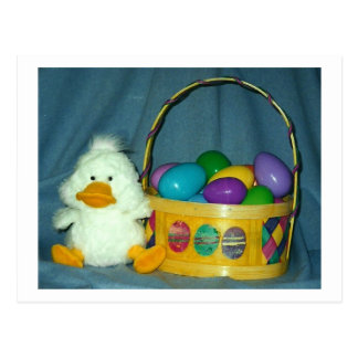 Easter Chick with Basket Postcard
