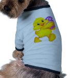 Easter Chick With Egg Dog T-shirt