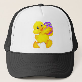 Easter Chick With Egg Trucker Hat