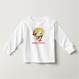 Easter Chick with Pink Bow Toddler T-shirt