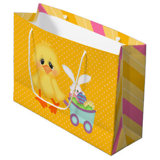 Easter Chick with Wagon Large Gift Bag