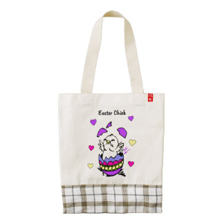 Easter Chick Zazzle HEART Tote Bag