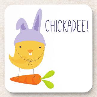 Easter Chickadee Drink Coaster