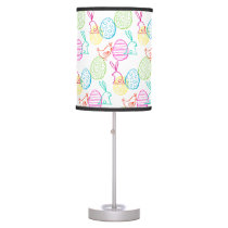 Easter chicken bunny sketchy illustration pattern table lamp