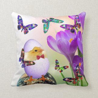 Easter Chicken design decorative pillow