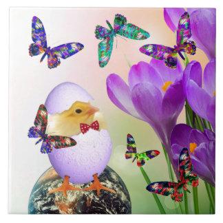 Easter Chicken design decorative tile
