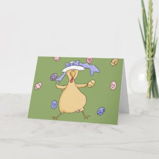 Easter Chicken Greeting Card card