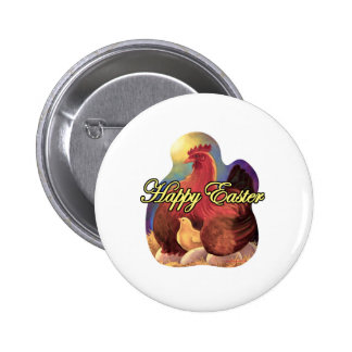 Easter Chicken Hen Chick Eggs Painting - Multi Pin