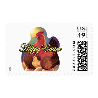 Easter Chicken Hen Chick Eggs Painting - Multi Postage