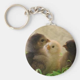 Easter Chickens Basic Round Button Keychain