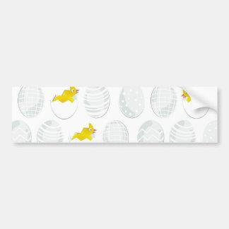 easter chickens bumper sticker