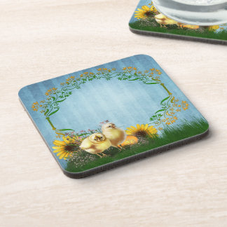 Easter Chickens Coasters (set of 6)